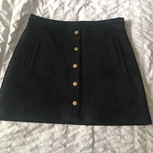 Faux Suede black skirt